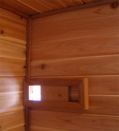 The boulder sauna design how to build a finnish sauna for Door ventilation design